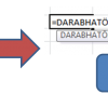 Képlet szerkesztése közben használható billentyűkombinációk