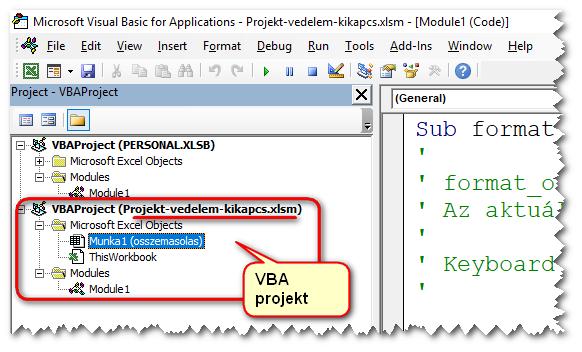 VBA-projekt